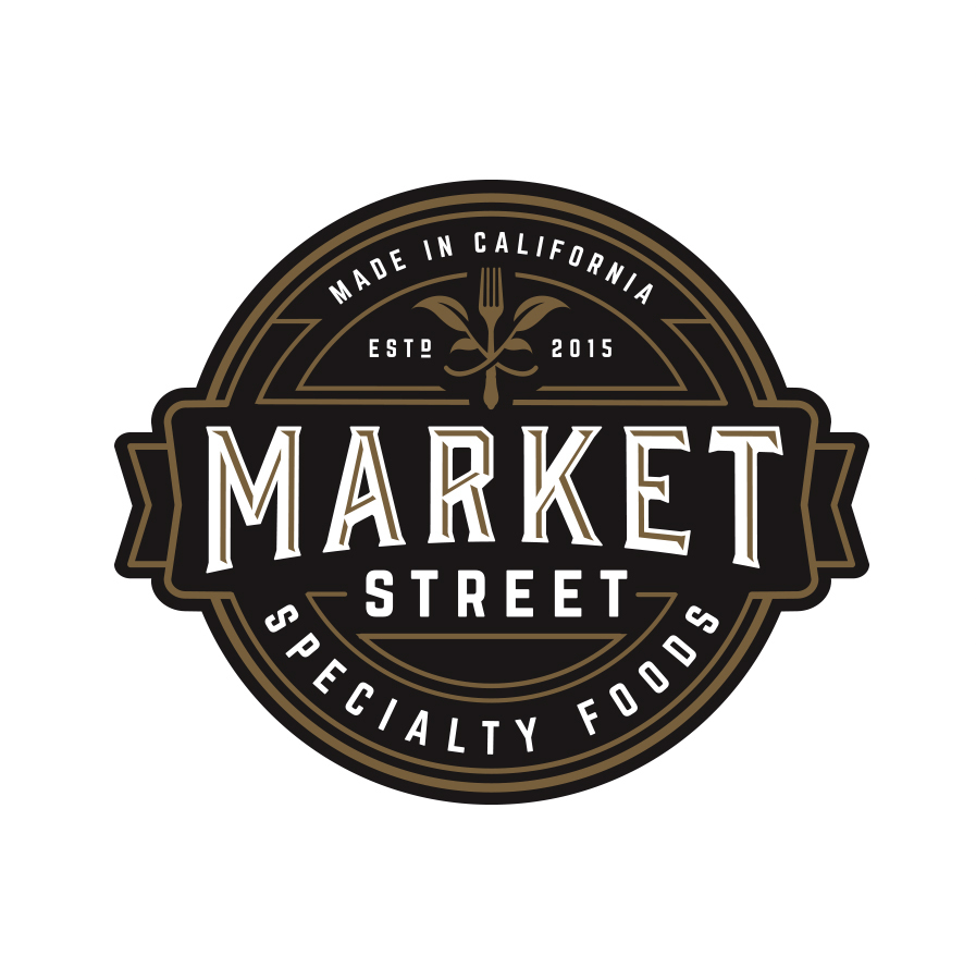 market street logo design badge circle enclosure oh yes