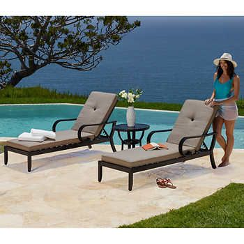 Whitehall 3-piece Cushion Chaise Lounge Set | Outdoor ...