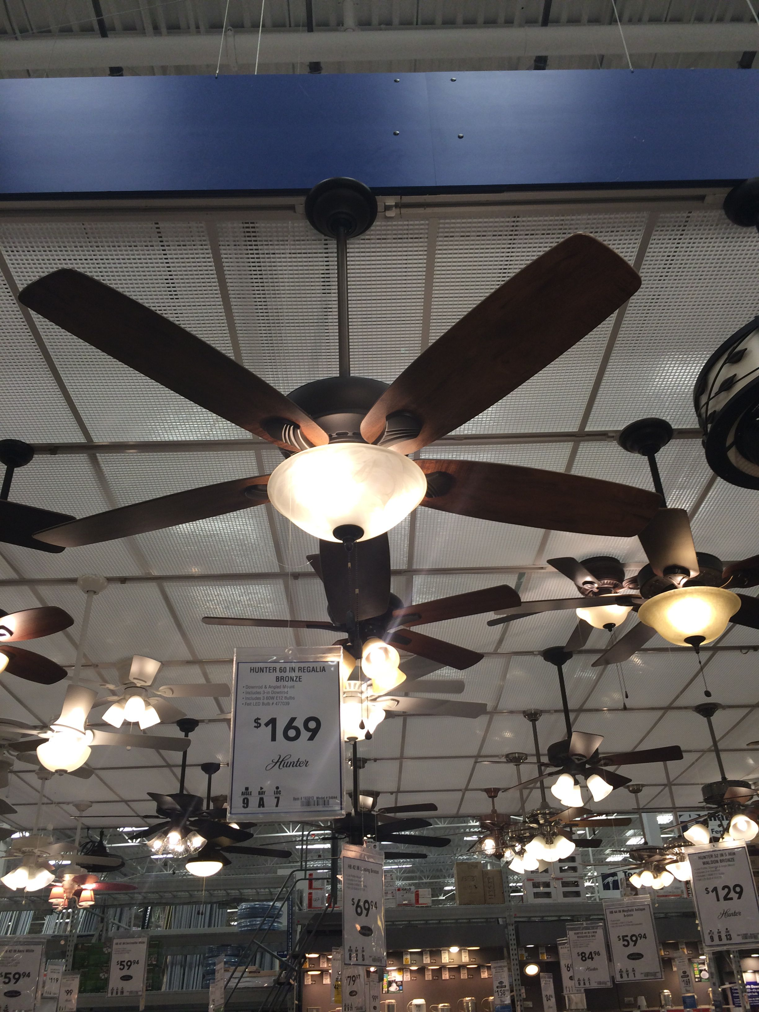 """My choice for the master ceiling fan Hunter 60"""" Regalia Bronze"""