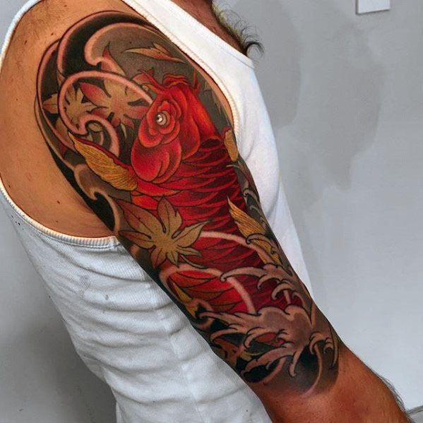 60 Japanese Half Sleeve Tattoos For Men Manly Design Ideas Japanese Tattoo Sleeve Tattoos Half Sleeve Tattoo