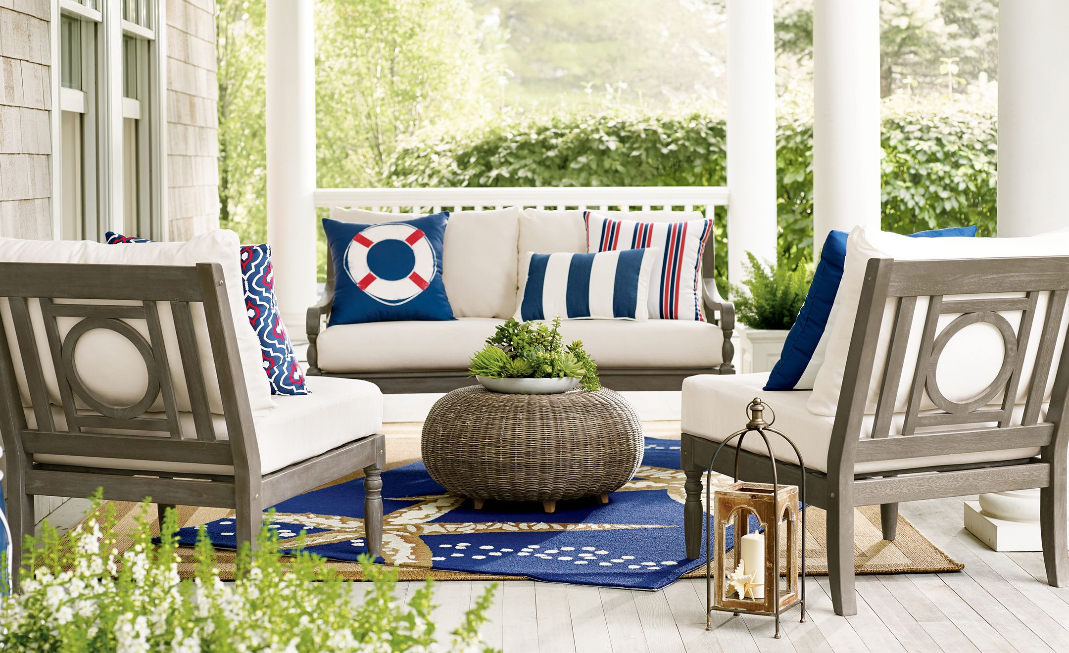 Dress Your Deck! Nautical Outdoor Living Inspiration (With ... on Nautical Patio Ideas id=64936