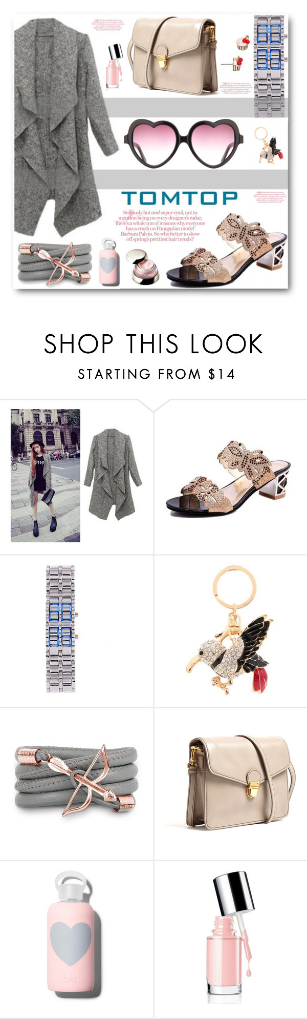 """TOMTOP"" by angelstar92 ❤ liked on Polyvore featuring Monza, Marc by Marc Jacobs, bkr, Kate Spade, Shiseido, tomtop and tomtopstyle"
