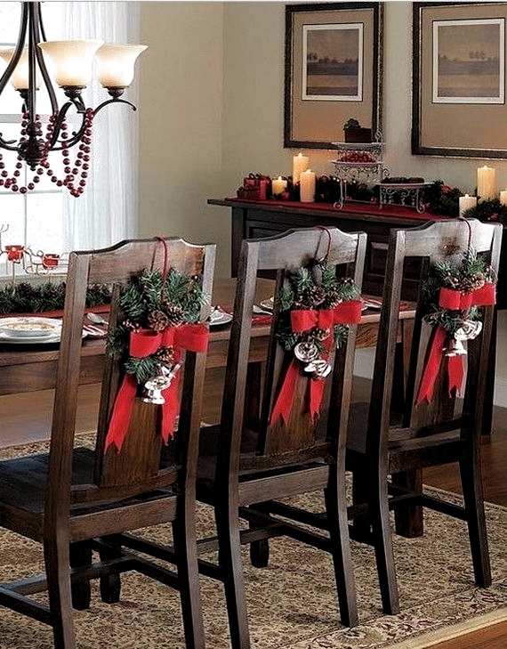 35 Festive Holiday Chair Decorations Family Holiday In 2020