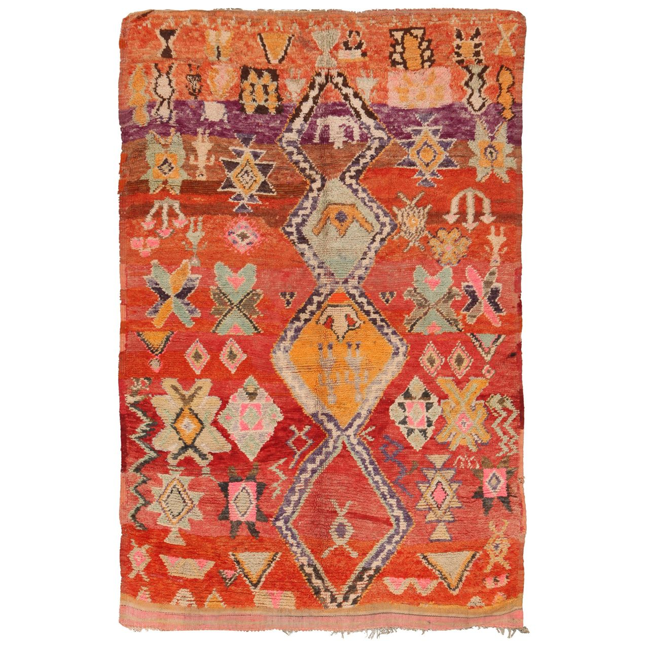 Vintage Moroccan | From a unique collection of antique and modern moroccan and north african rugs at http://www.1stdibs.com/furniture/rugs-carpets/moroccan-rugs/