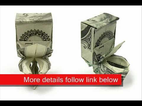 Money Origami Toilet Bowl How Cute Money Folding