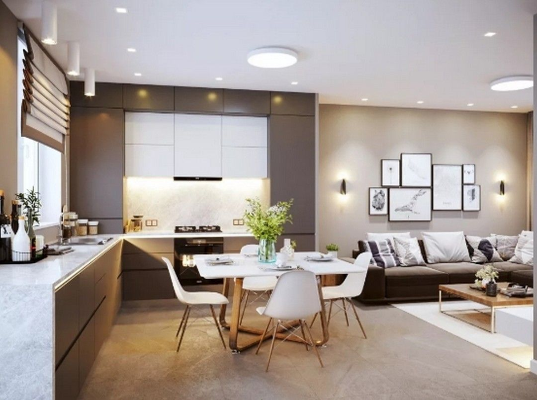 6 Kitchen Design Ideas With Integrated Living Room Kitchen Design Living Room Inspiration Living Room Pictures