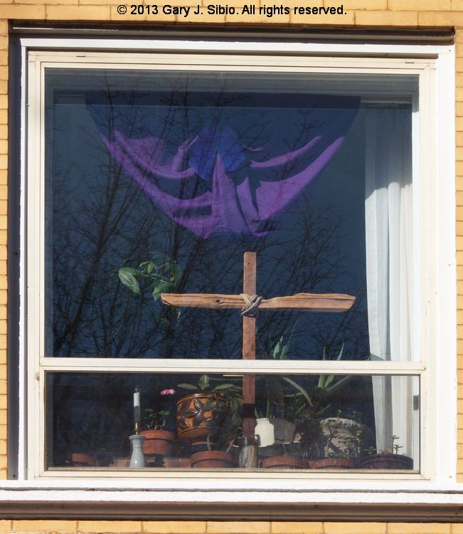 Window Decorated for Lent (2013-02-15 14-43-08a) © 2013 Gary J. Sibio. All rights reserved. Click on photo for details.