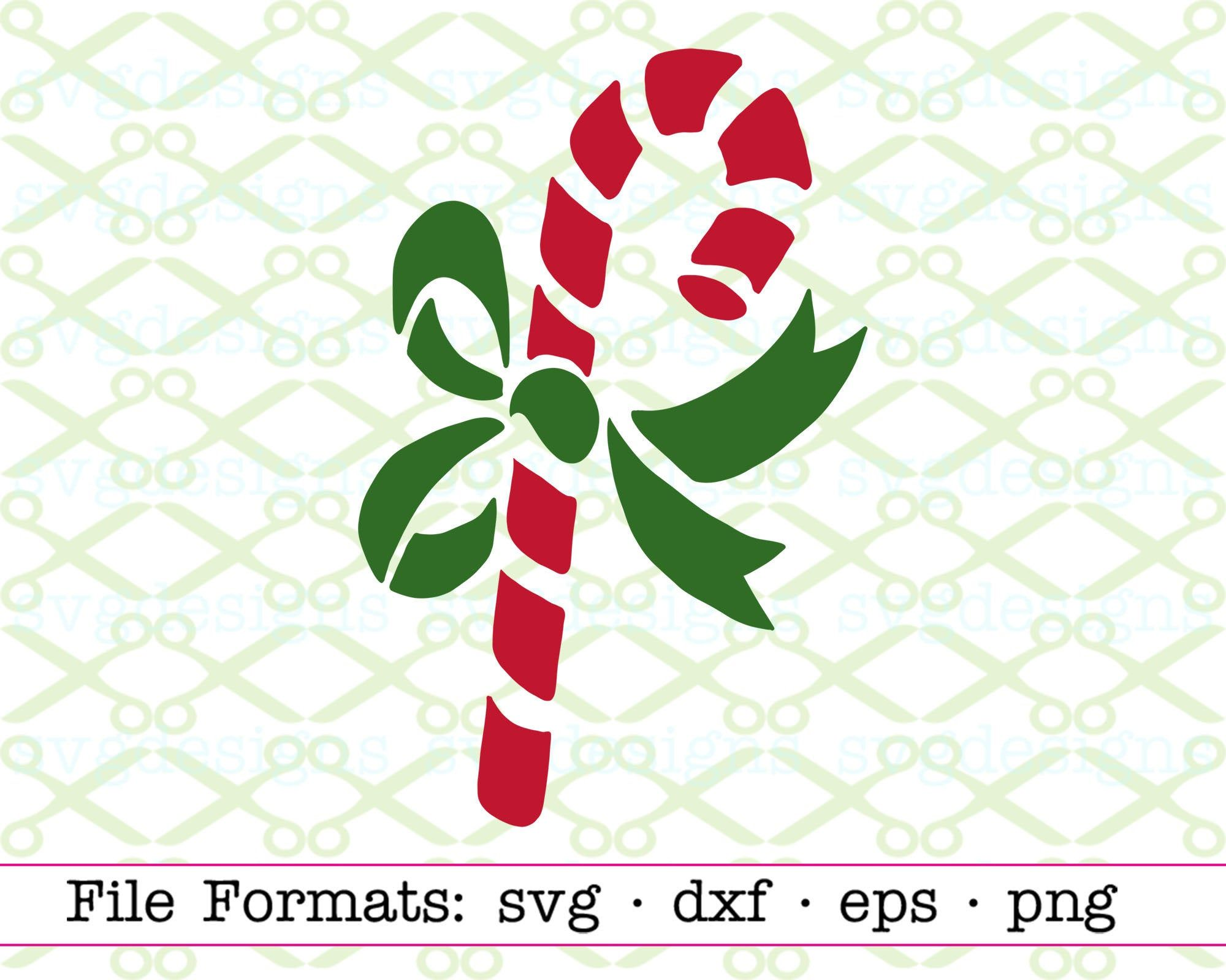 Candy Cane SVG, Dxf, Eps, Png. Files for Cricut