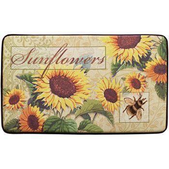 Sunflower Bee Kitchen Rug Kitchen Rug Sunflower Kitchen