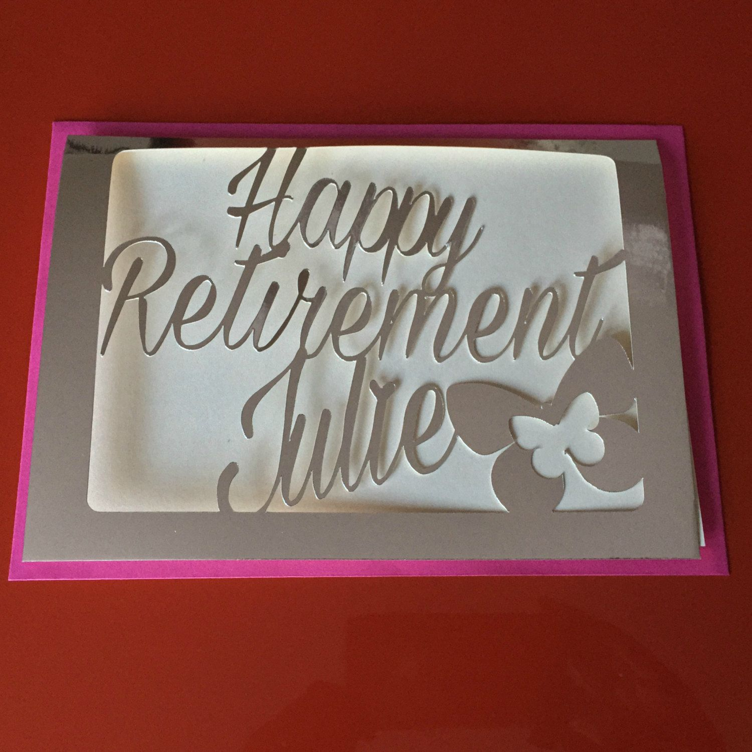 New To Weheartcards On Etsy Retirement Card Personalised Card For
