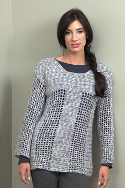 2696 Crochet Tunic pattern by Plymouth Yarn Design Studio #crochettunicpattern