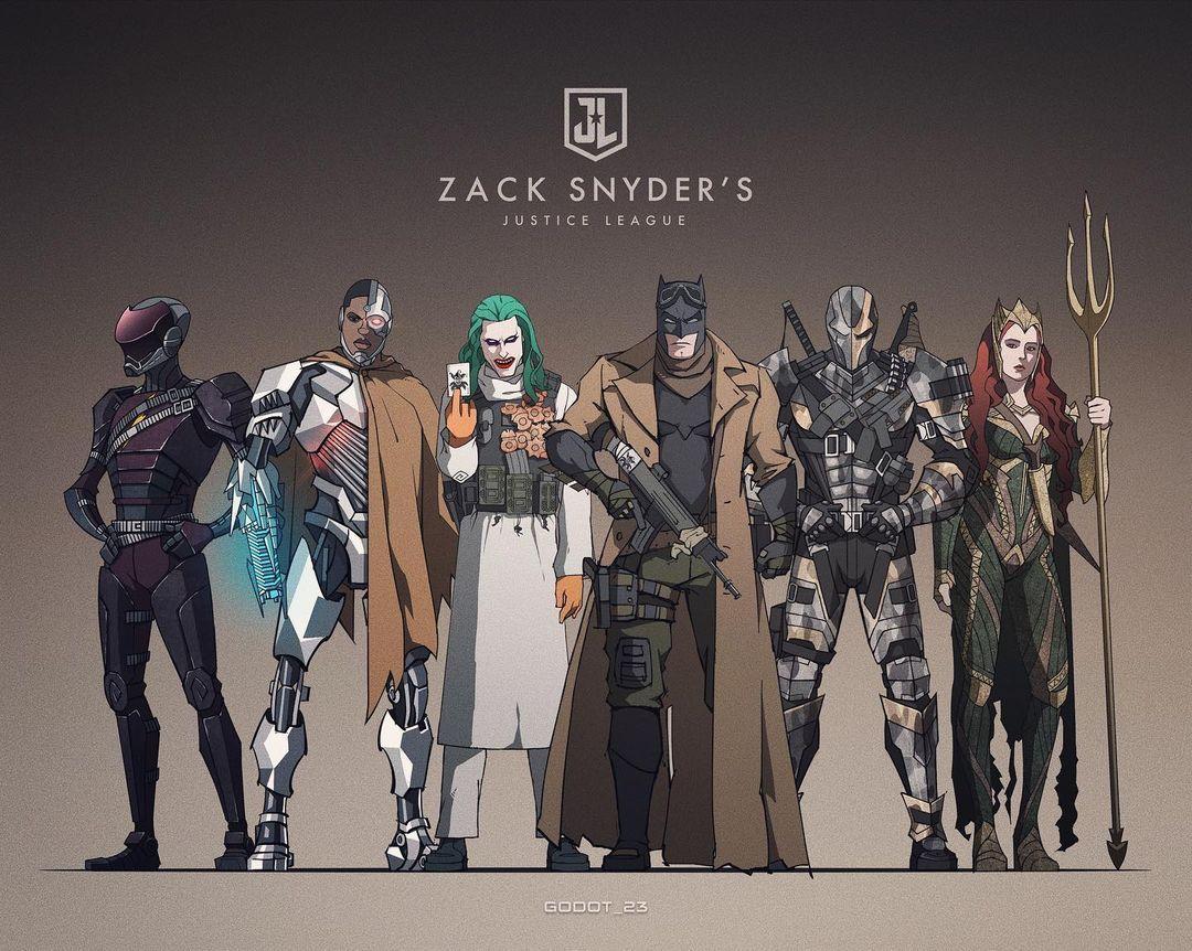 戈多 Godot 23 Posted On Instagram Snydercut Batman Joker Deathstroke Mera Cyborg In 2021 Dc Comics Heroes Justice League Art Justice League