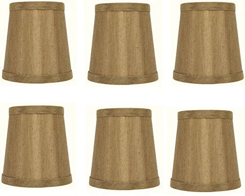 Mini Chandelier Shades Clip On Small Lamp Shade Set Of Six Bronze
