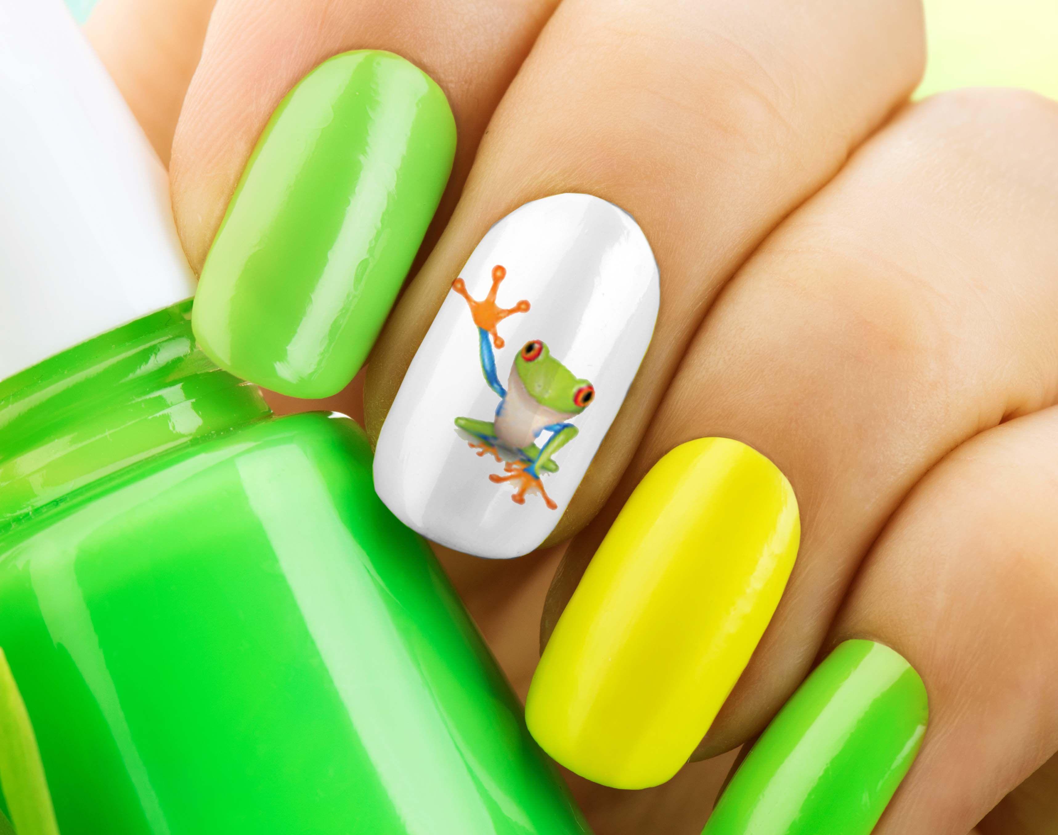Pin de Moon Sugar Decals en Frogs Nail Art Decals | Pinterest