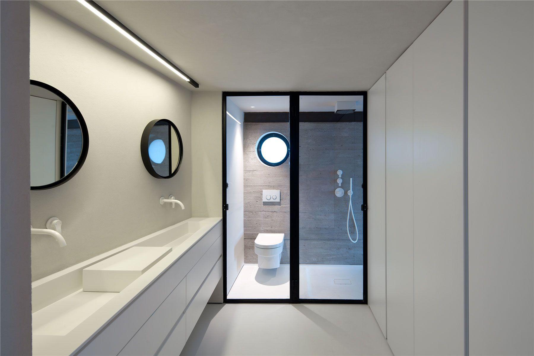 Badezimmer ideen blau factory jaffa house  pitsou kedem  baño  pinterest  badezimmer