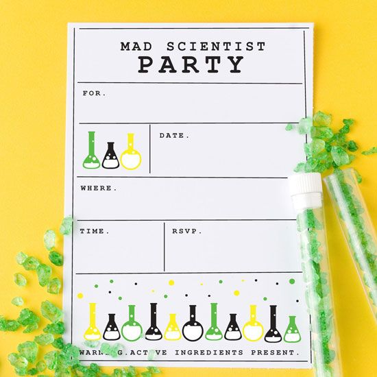 One Charming Party Birthday Party Ideas Host A Mad Scientist