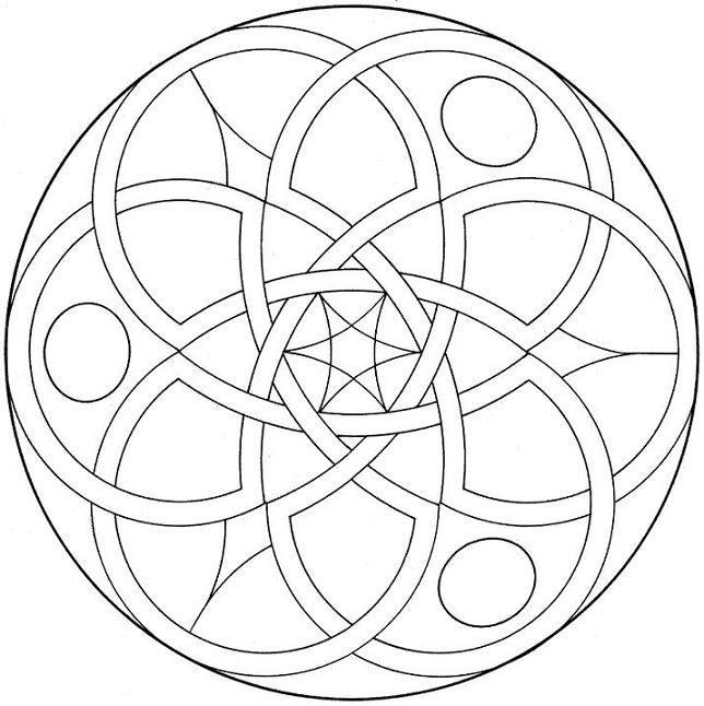 Geometric Mandala Coloring Page | Brandmalerei Vorlagen | Pinterest ...