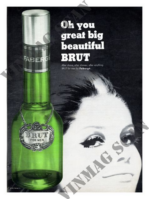 Brut Aftershave 1960s After Shave Perfume Ad Vintage Shaving