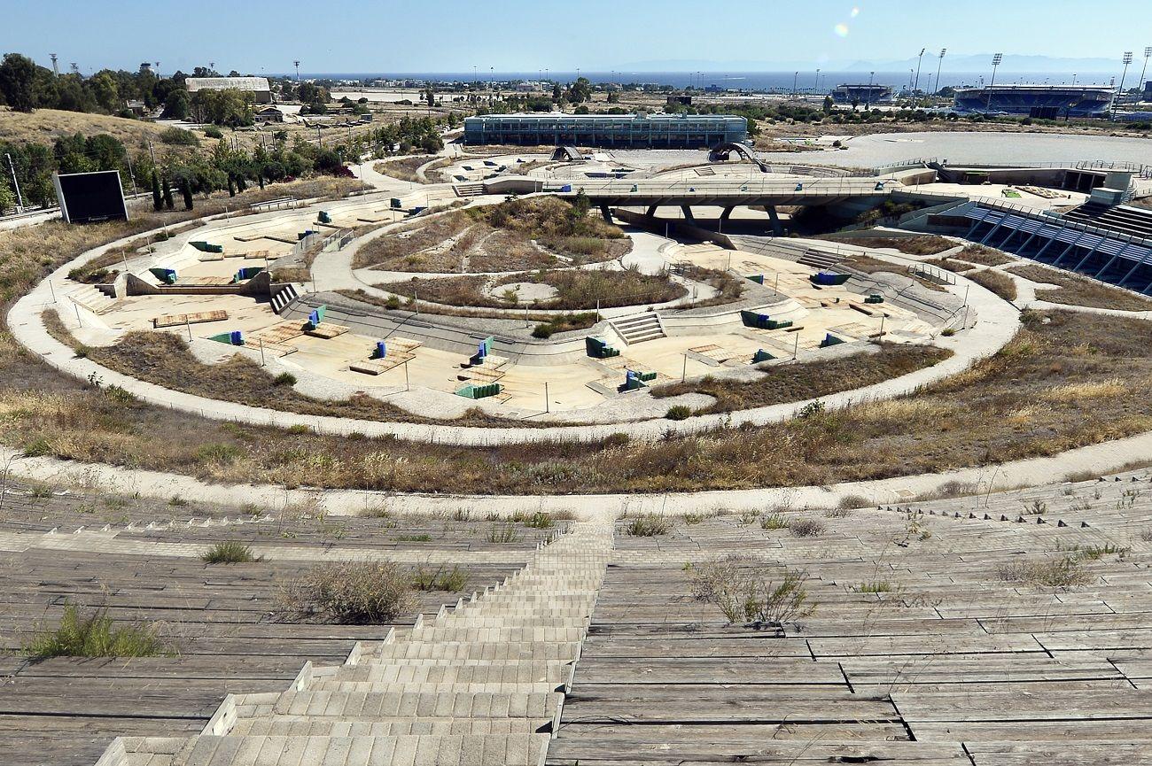 A 2004. Athéni nyári olimpia elhagyatott helyszínei.