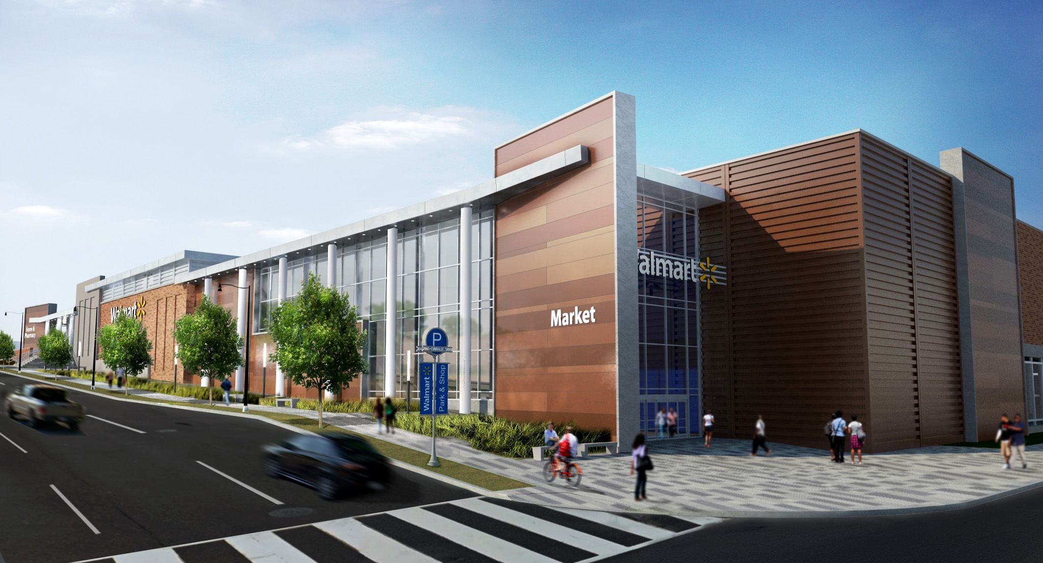 Walmart east capital street washington dc mma for Modern retail building design