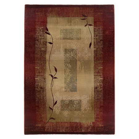Found it at Wayfair - Journey Dark Red Rug
