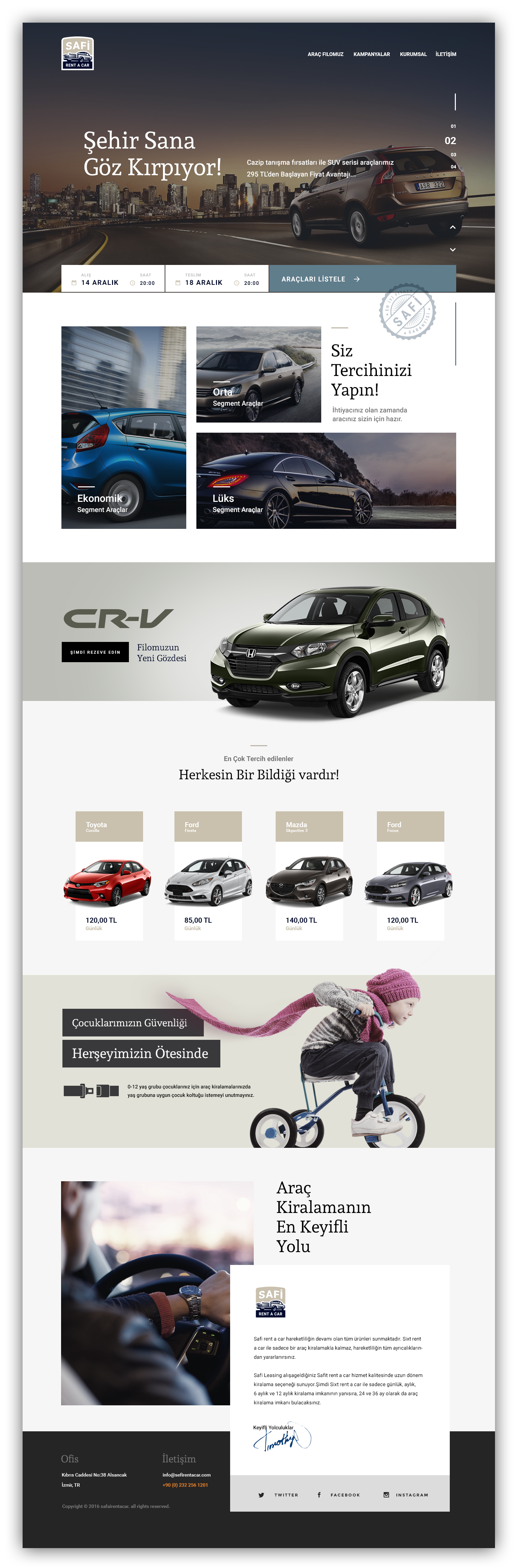 Car Rental Web Design Concept