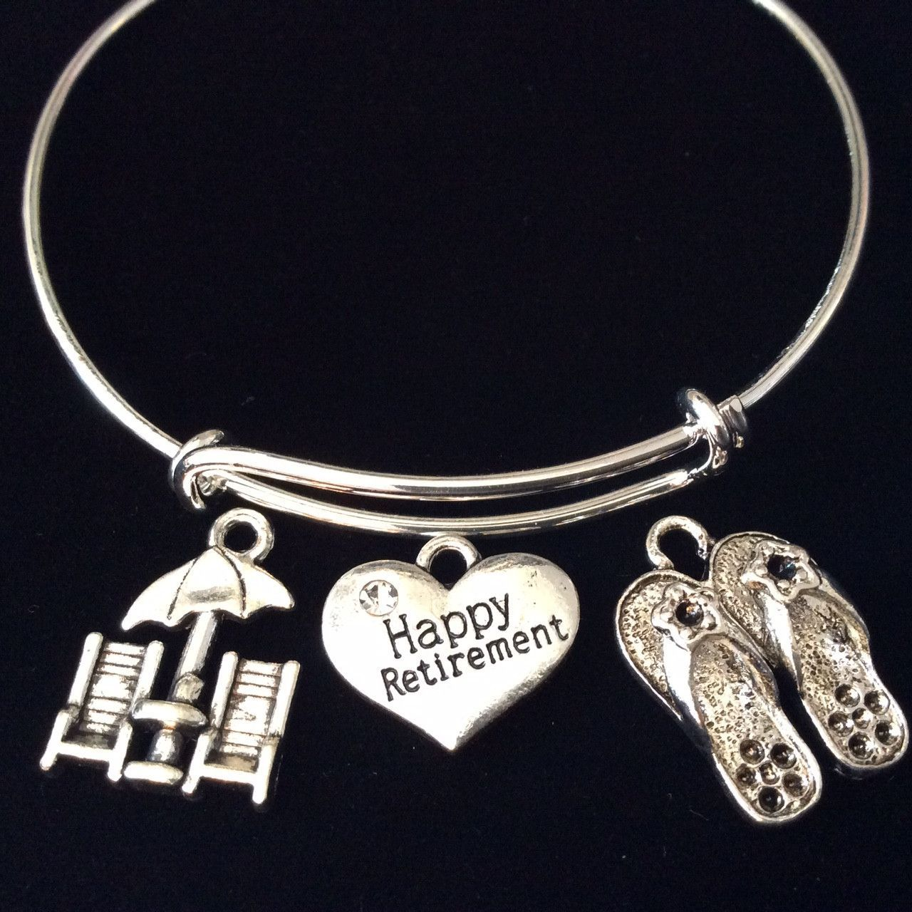 Health Peace Hiness Hy Retirement Erfly Daisy Flower Expandable Silver Charm Bracelet Adjule Wire Bangle Office