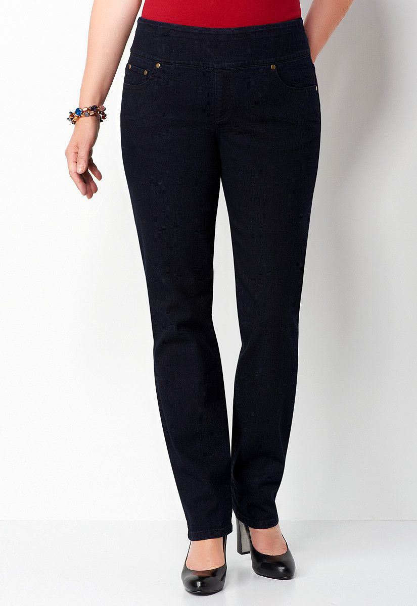 Modern Fit Signature Slimming Pull on Tapered Jean Average - All StylesChristopher & Banks