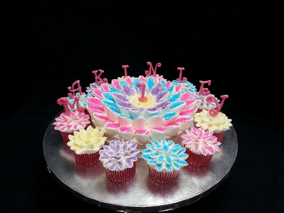 1st Birthday flower cake Lauras Baking Delights httpswww