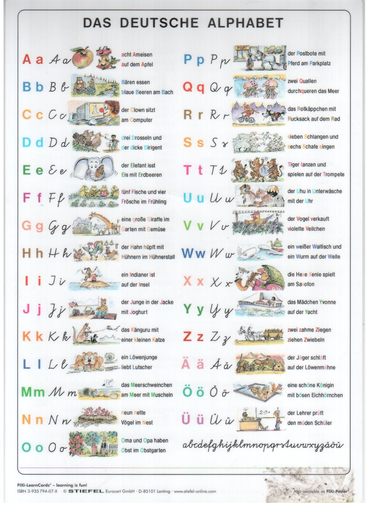 alphabet gedicht kindergarten - Google Search | German ...