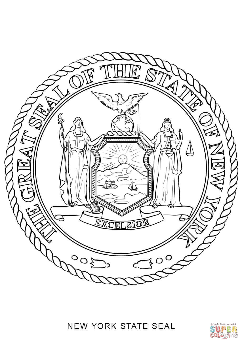 Georgia State Seal Coloring Pages Flag Coloring Pages American Flag Coloring Page Flower Coloring Pages