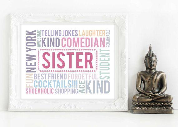 sister gift, gift for sister, sister presents, sister christmas gift ...