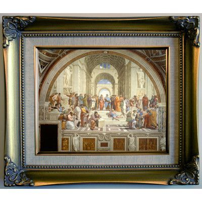 Historic Art Gallery \'The School of Athens 1511\' by Raphael Framed ...