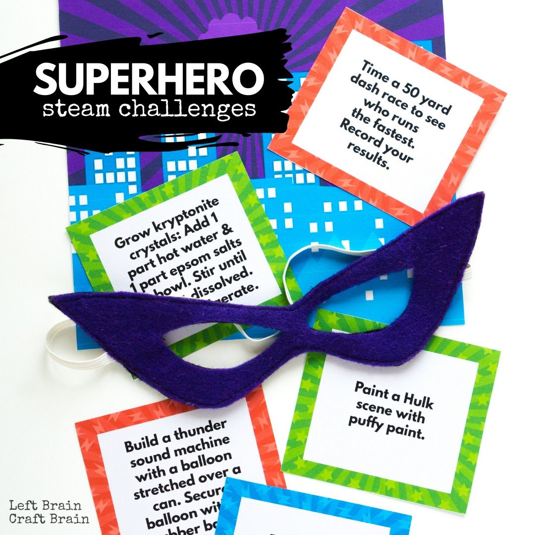 Superhero Steam Challenges For Kids In