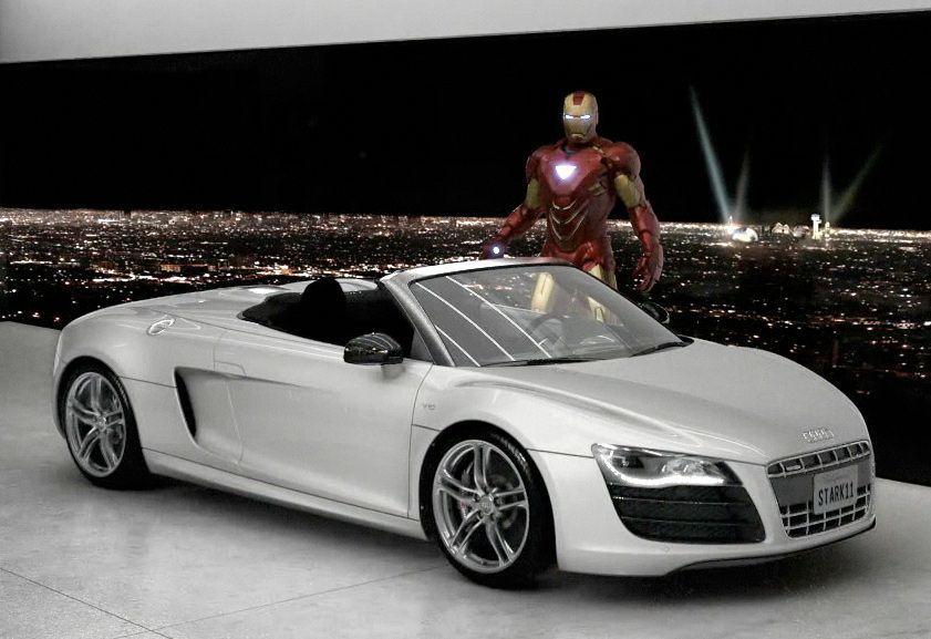 "2010 Audi R8 Spyder 5.2 FSI quattro ""Stark 11"" Iron Man"