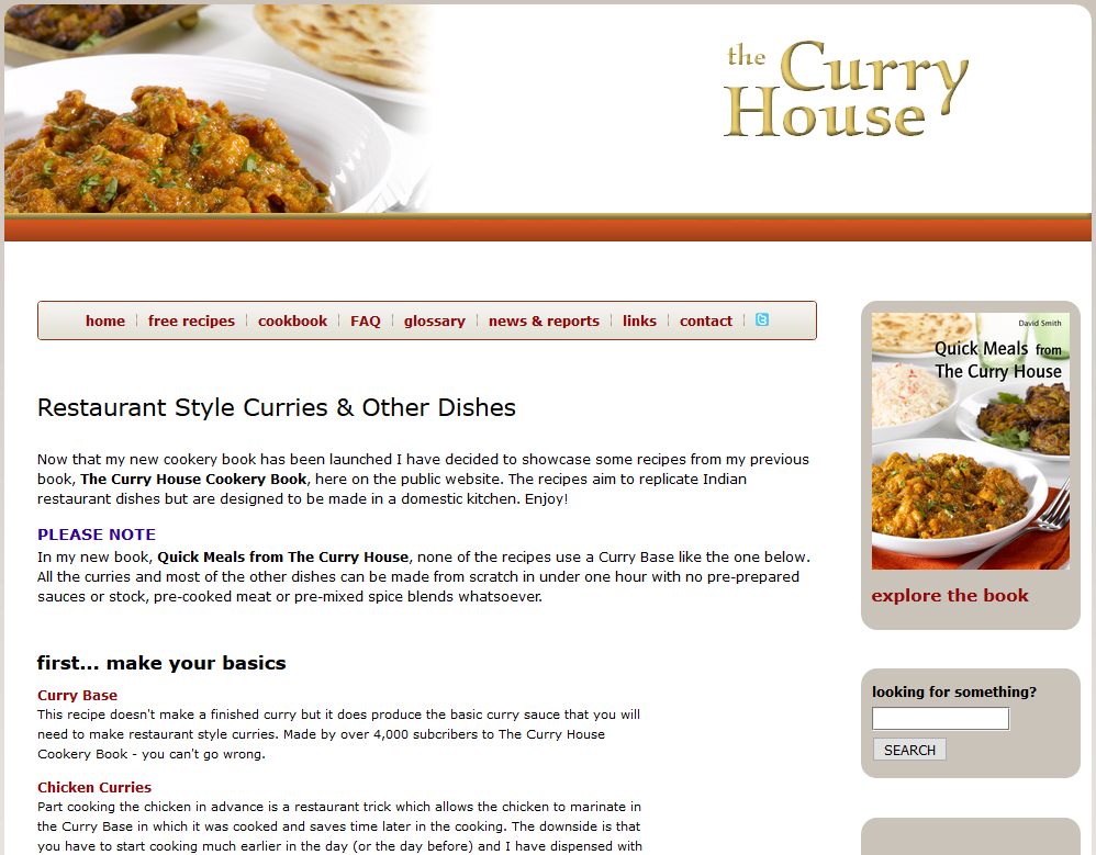 The Curry House - Recipes for Restaurant-style Curries and other Dishes