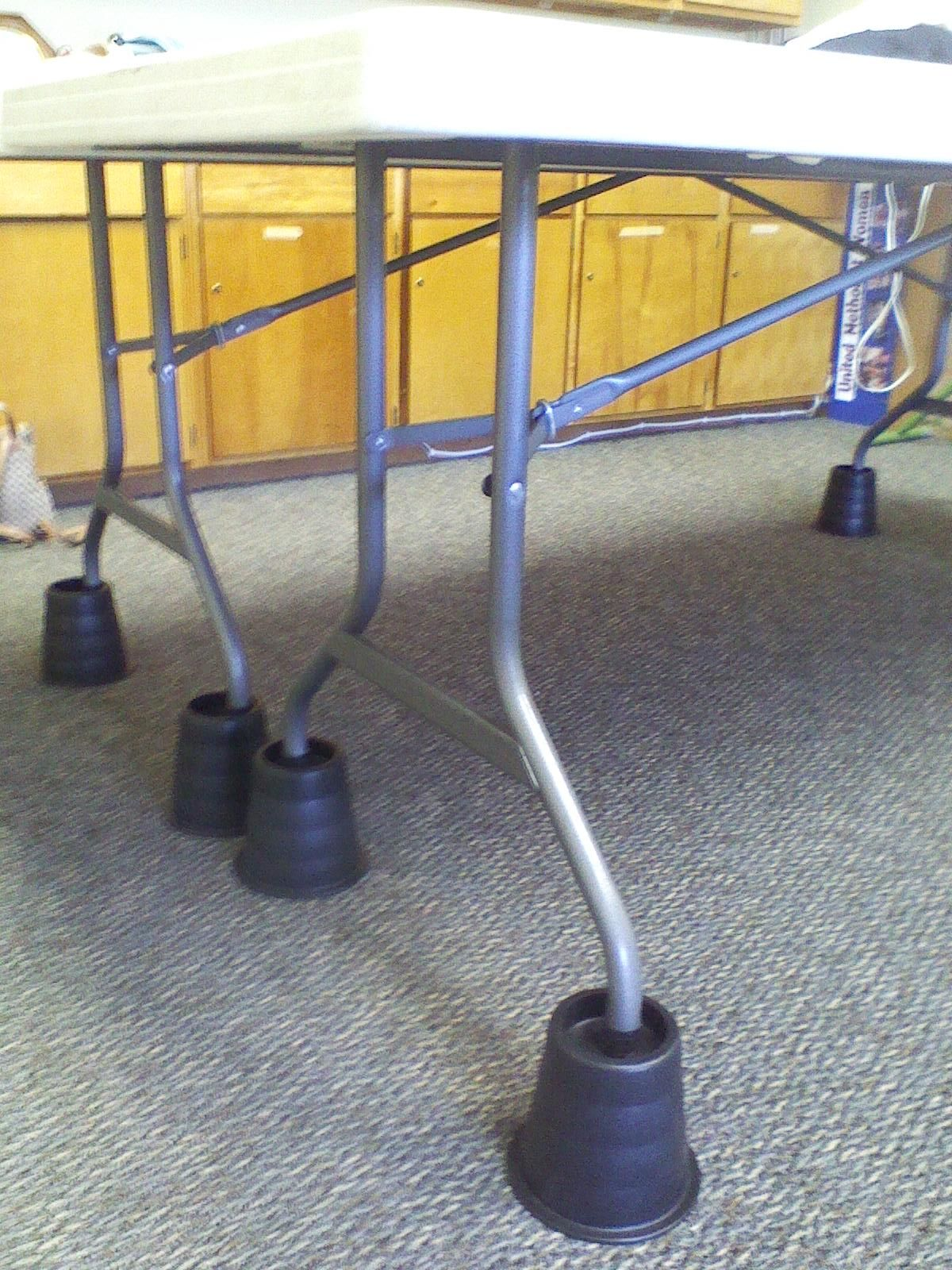 Superior Use Bed Risers To Raise The Height Of Working Table To Make It Easier On  Your
