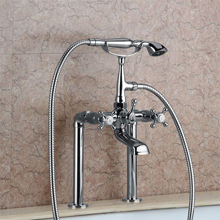 浴槽水栓浴室水栓シャワー混合水栓ハンドシャワー付水道蛇口2色in 2020