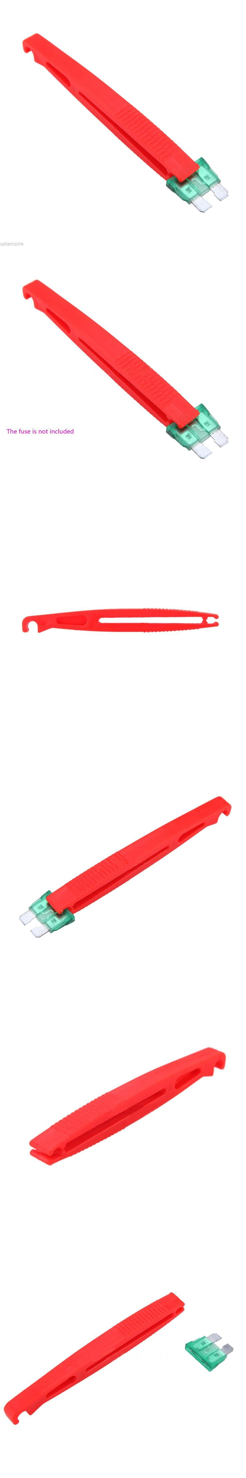 2pcs Set New Car Blade Glass Plastic Fuses Ato Puller Red Clip Fuse Box Extraction Tool
