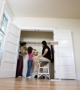 8 Ways To Maximize Space In Your Home Homesteady Closet Door Makeover Sliding Closet Doors French Closet Doors