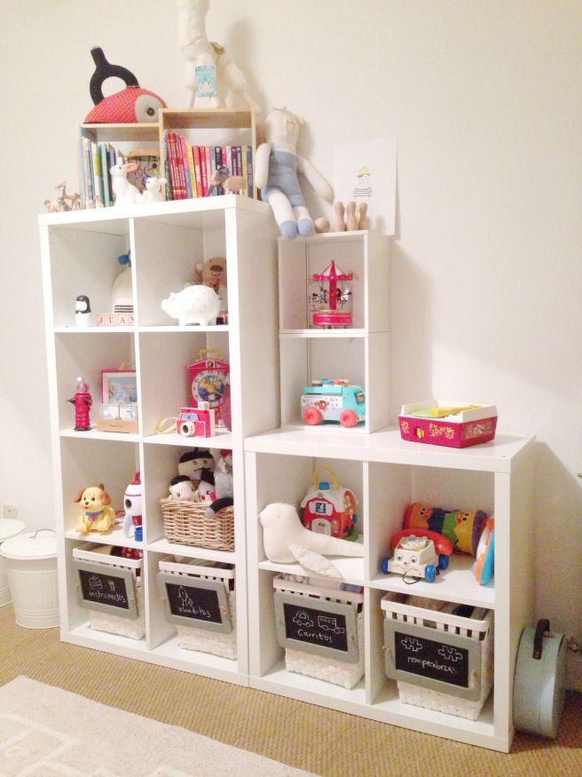 Diy organizador de juguetes ikea m dulo cestos ideas habitacion - Estanterias guardar juguetes ...