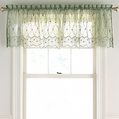 Lisette Embroidered Valance Jcpenney Dream Home Kitchen And Breakfast Nook Pinterest