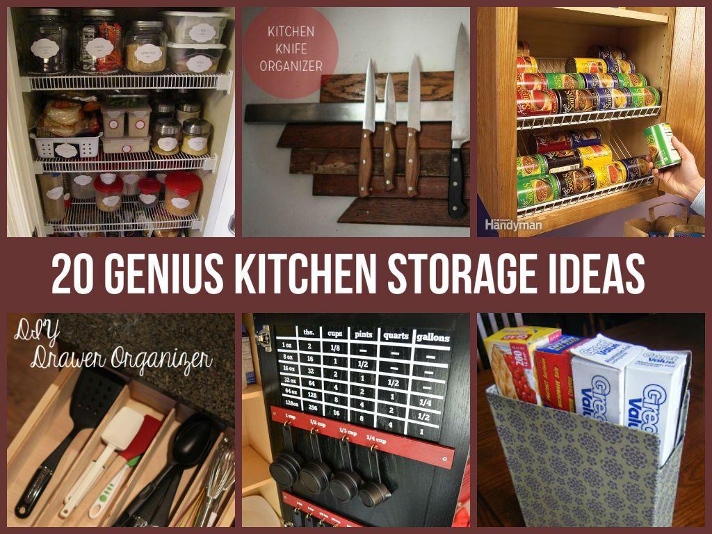 20 Genius Kitchen Storage Ideas   Organizing   Pinterest   Sortieren ...