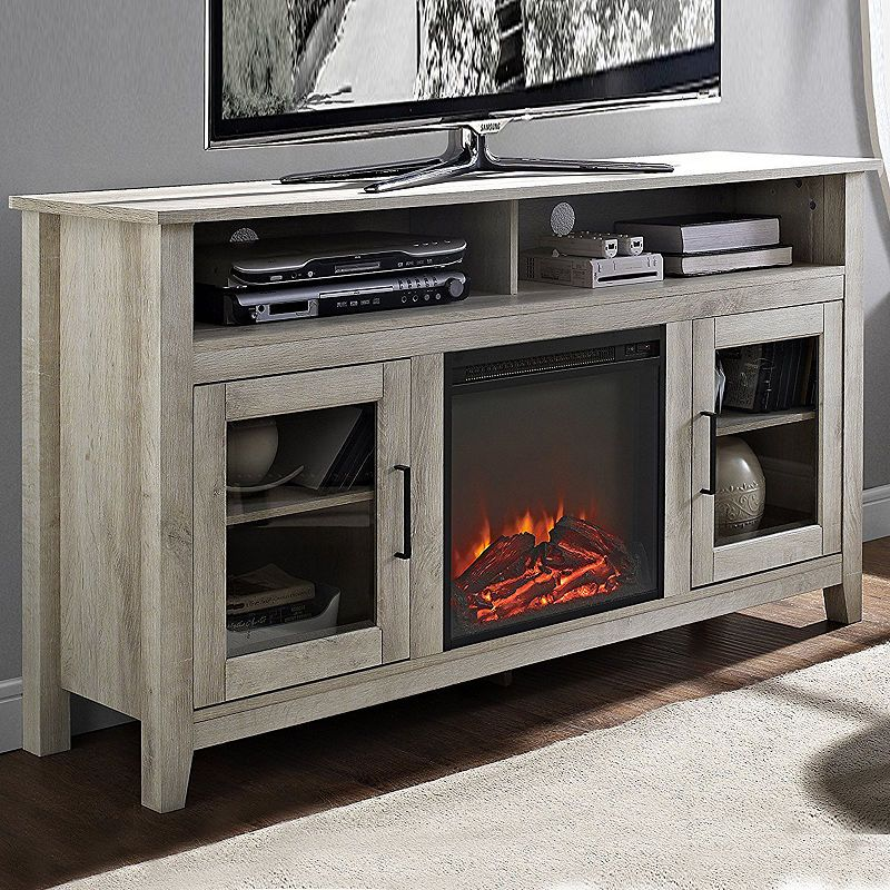 58 Wood Highboy Electric Fireplace Media Console Tv Stand Fireplace Media Console Electric Fireplace Media Console Home