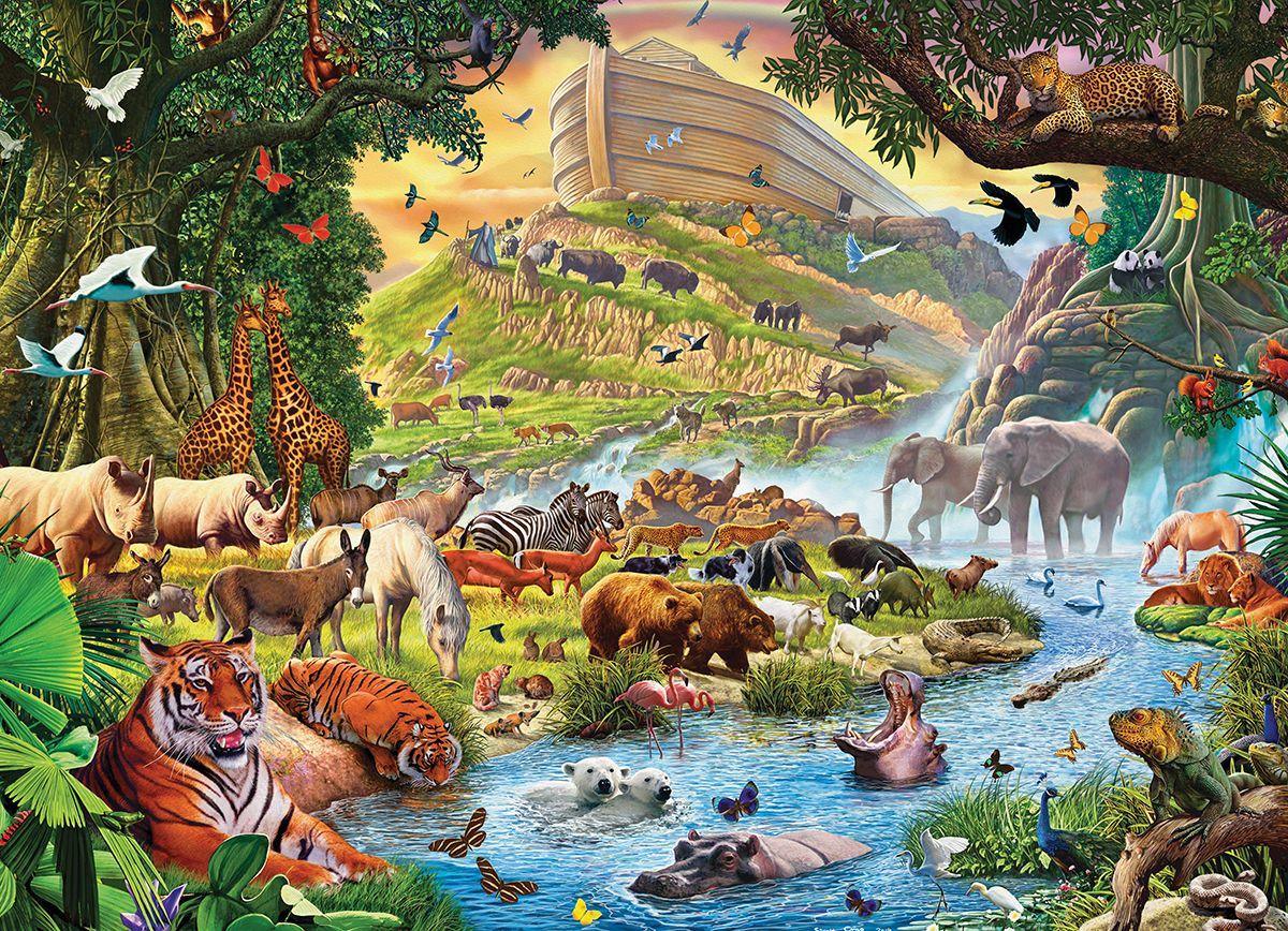 Noah's Ark Before the Rain by Steve Crisp. 300 pieces. A ...