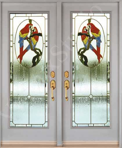 Stained glass inserts for entry doors parrot design birds stained glass inserts for entry doors parrot design planetlyrics Gallery