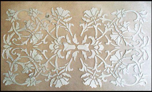 Stencil, Raised Plaster Stencil, Priscilla Panel Wall Stencil