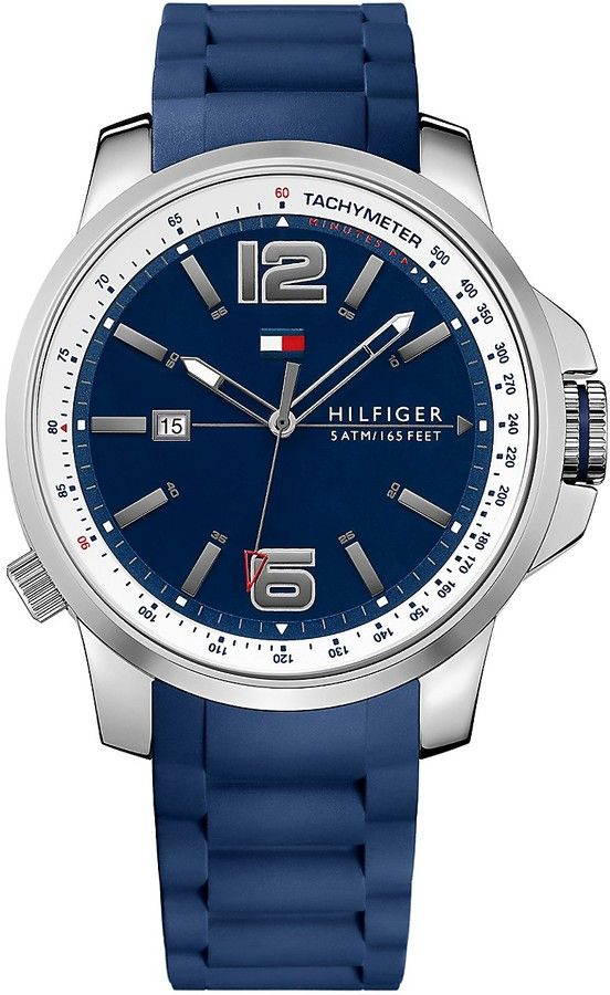 77409a23e400 Tommy Hilfiger TACHYMETER WATCH WITH BLUE SILICONE STRAP