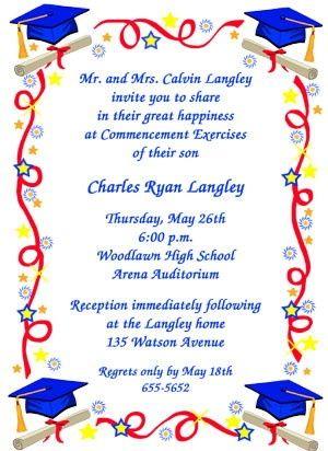 Graduation Party Invitation with Caps GRAD Pinterest Party - graduation program
