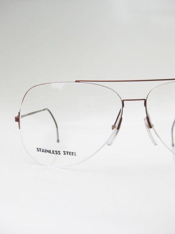 Vintage Mens Aviator Glasses Eyeglasses 1970s Sunglasses